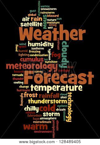 Weather Forecast, Word Cloud Concept 9