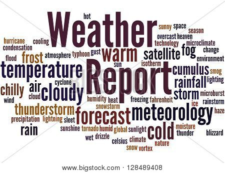 Weather Report, Word Cloud Concept