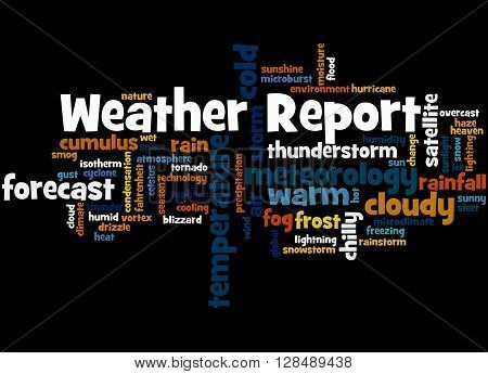Weather Report, Word Cloud Concept 4