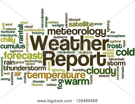 Weather Report, Word Cloud Concept 7