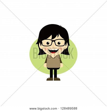 Geek Cartoon Nerd Character