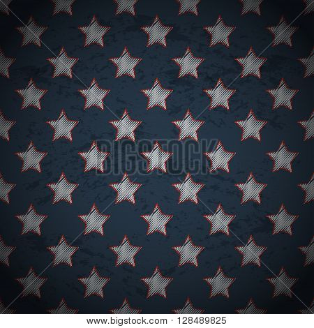Memorial day background. Memorial day design with stars.
