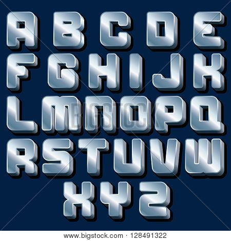 Vector Metallic Alphabet. Ready for Your Text and Design.