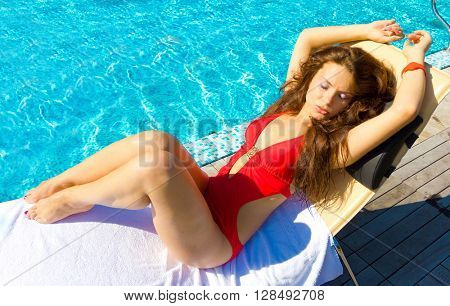 Pool Sun Babe