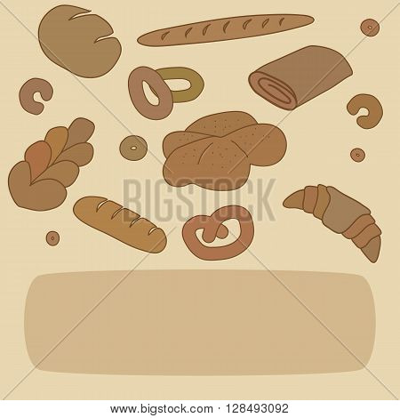 Bakery background template with space for text.