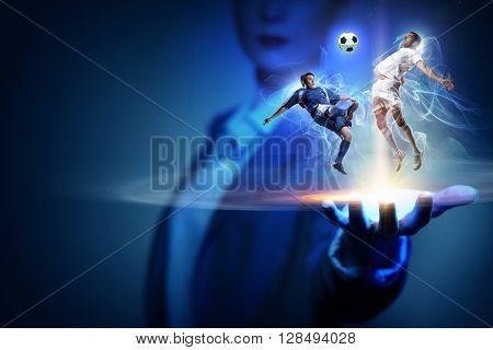 Football game fan