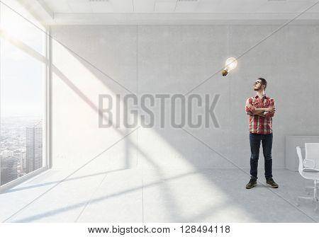 Guy thinking over idea