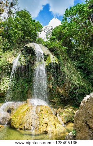Waterfall at Soroa, a famous natural landmark in Cuba