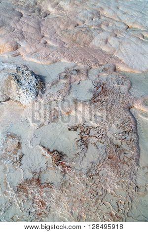 Abstract In   Turkey   Calcium  Travertine Water