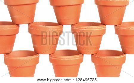 Flowerpots flower pots stack