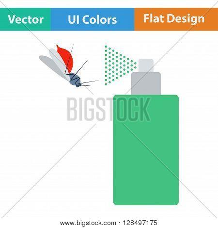 Flat Design Icon Of Mosquito Spray
