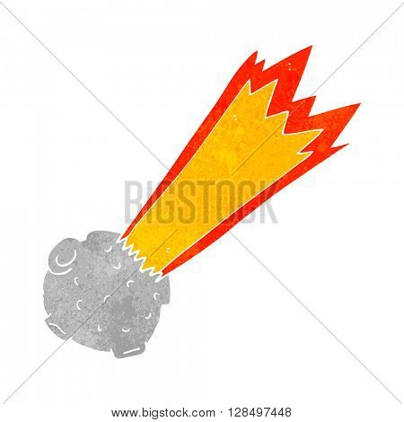 freehand retro cartoon meteor