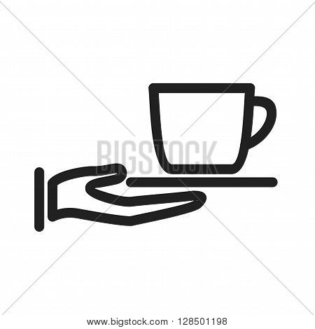 Kitchen, tea, served icon vector image. Can also be used for kitchen. Suitable for use on web apps, mobile apps and print media.