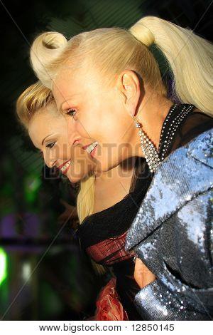 Russian pop star, singer Angelika Varum and Laima Vaikule