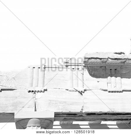 Historical   Athens In Greece The Old Architecture And Historical Place Parthenon
