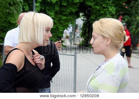 Russian pop star Valeria and Angelika Varum