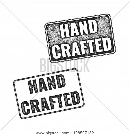 Realistic Vector Handcrafted Grunge Rubber Stamps