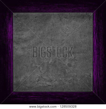 Dark Violet Grunge Canvas With Wood Frame