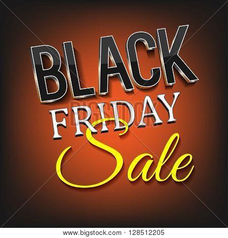 Text black friday sale on the orange background.