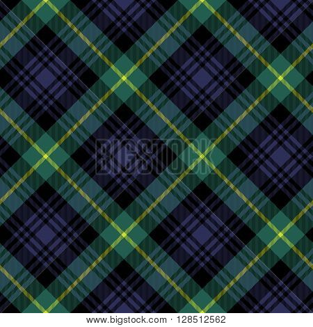 gordon tartan fabric textile check pattern seamless.Vector illustration. EPS 10. No transparency. No gradients.