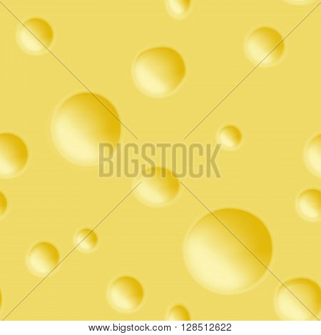 Seamless cheese pattern. Design element for wallpapers, web site background, restaurant menu, cheese flavour food ads, scrapbooking, fabric print etc.