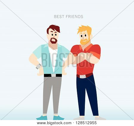 Vector flat simple friendly people character. Person icon isolated. Concept industry. Human icon. Profession man icon. Human portrait. Friends.