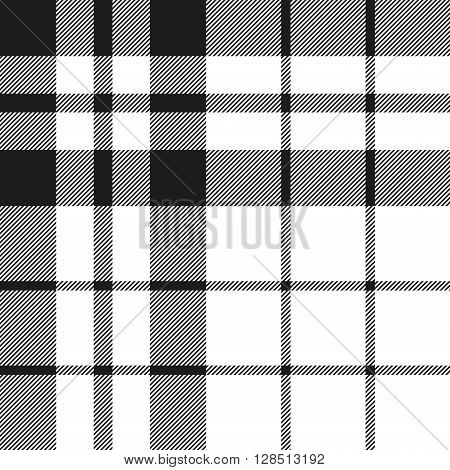 Hibernian fc tartan check plaid black and white pattern seamless.Vector illustration. EPS 10. No transparency. No gradients.