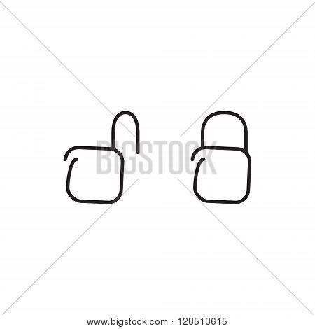 Lock unlock icons. Vector illustration. Safe signs