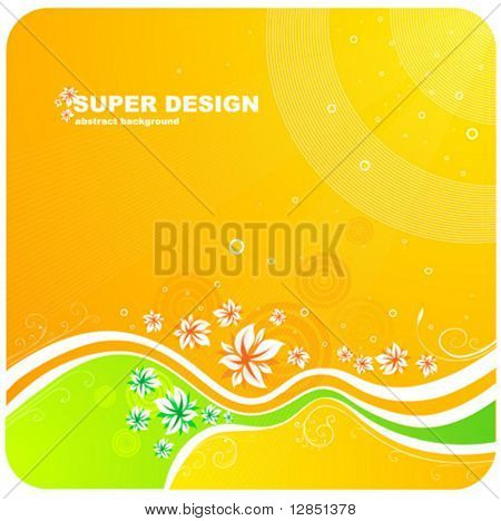 Abstract illustration for design. Floral pattern for background.