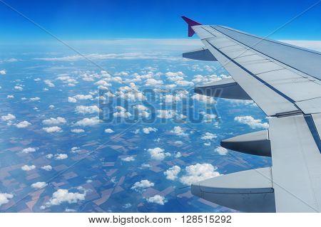 view through airplane window