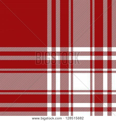 Menzies tartan red kilt fabric texture seamless pattern.Vector illustration. EPS 10. No transparency. No gradients.