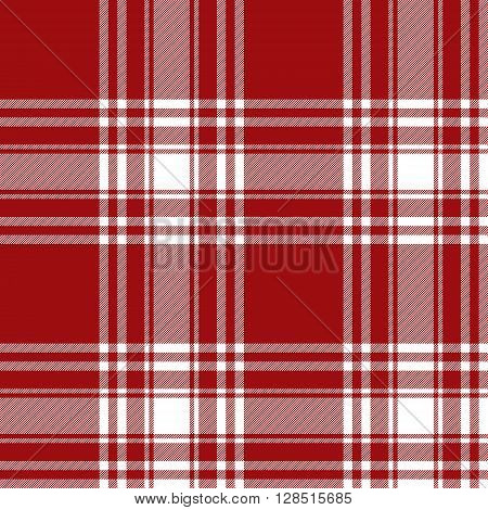 Menzies tartan red kilt skirt fabric texture seamless pattern.Vector illustration. EPS 10. No transparency. No gradients.