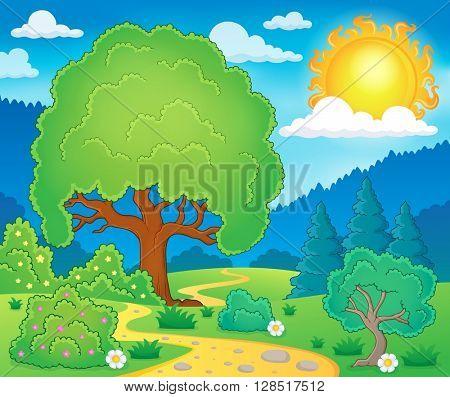 Spring topic scenery 3 - eps10 vector illustration.
