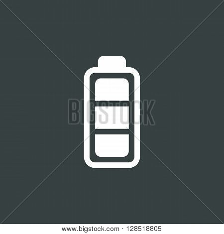 Battery Icon In Vector Format. Premium Quality Battery Symbol. Web Graphic Battery Sign On Dark Back