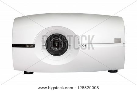 Video projector isolated on the white background