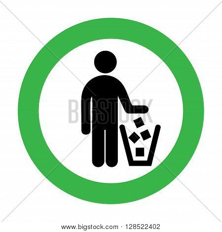 It is forbidden to throw garbage, we can not throw garbage, no debris. No littering sign in vector.