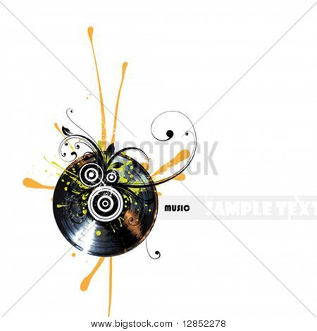 Abstract music illustration for design.