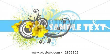 Abstract spring vector element.