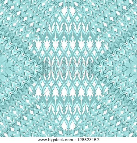Seamless retro pattern geometrical embroidered texture background