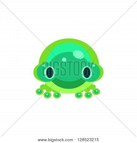 Frog Jelly Toy Simple Flat Vector Design In Colorful Childish Style Isolated Icon