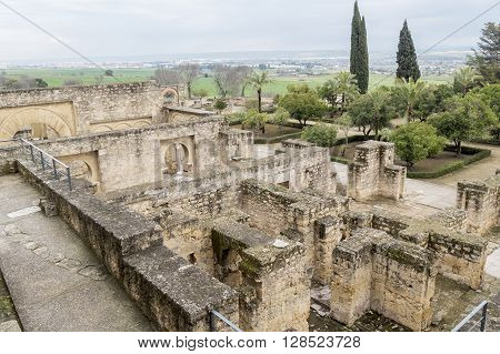 Ancient city ruins of Medina Azahara Cordoba Spain