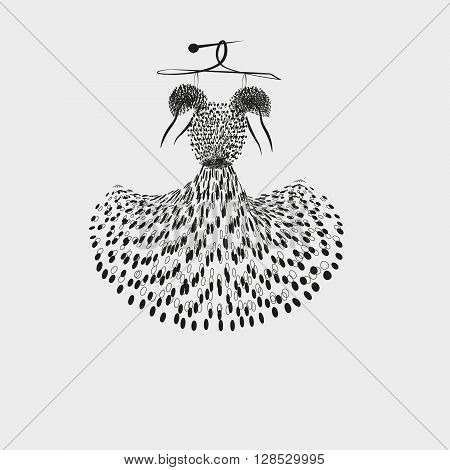 Illustration of a light summer dress