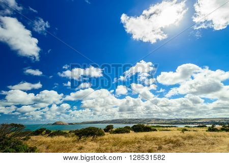 Victor Harbor coast during a day South Australia