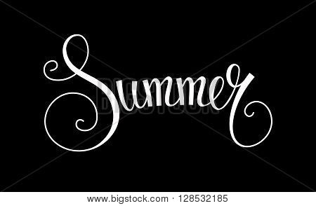 Vector summer text. Summer camp logo design element. Summer holiday illustration