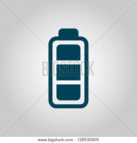 Battery Icon In Vector Format. Premium Quality Battery Symbol. Web Graphic Battery Sign On Grey Back