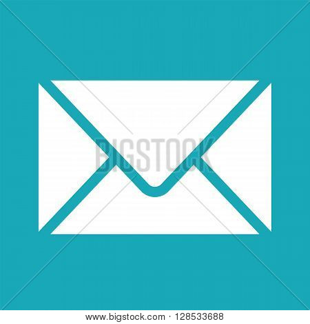 Vector white envelope icon. Envelope icon image for print web. Envelope icon for apps. Vector graphic envelope design element. Envelope icon isolated on white background. Clipart.