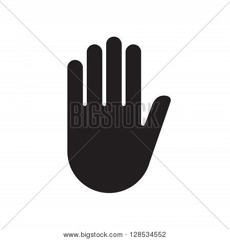 Hand sign stop .Vector illustration. EPS 10.