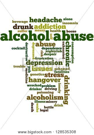 Alcohol Abuse, Word Cloud Concept 6