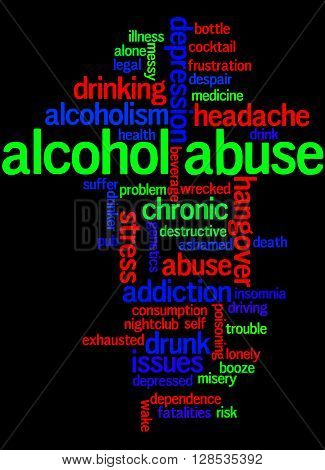 Alcohol Abuse, Word Cloud Concept 9