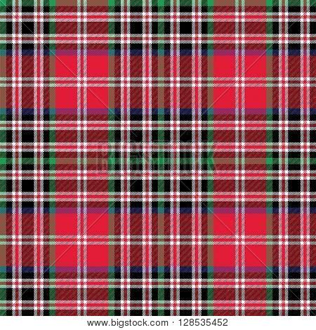 Kemp tartan fabric texture check pattern seamless.Vector illustration. EPS 10. No transparency. No gradients.